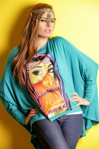 printed plus size blouse 2