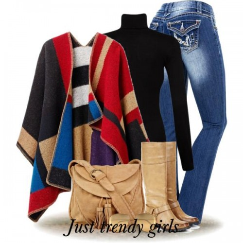 contrast colors poncho