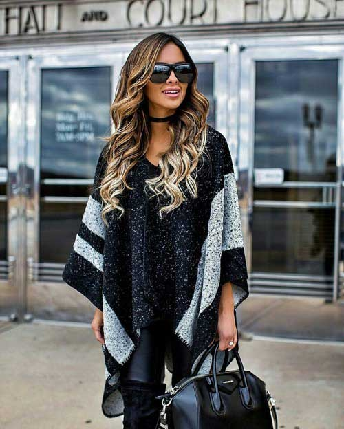 black-knit-poncho-outfit