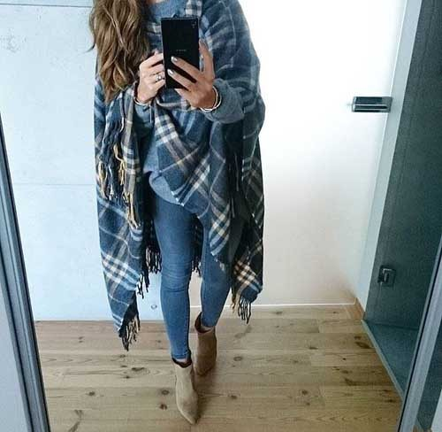 blue-plaid-blanket-poncho-outfit