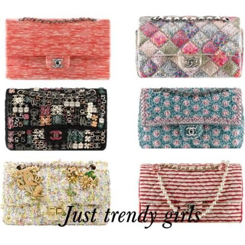 Chanel Vintage tweed bags