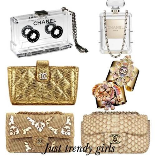 Chanel golden clutches