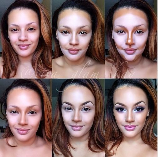 How to contouring and highlighting your face with makeup ...