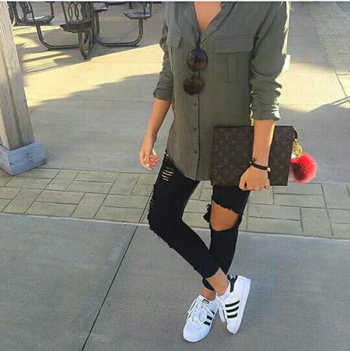 olive-shirt-outfit-with-black-jeans