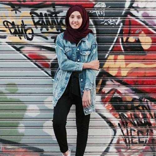 Oversize Jean Jacket With Hijab Teen Look Just Trendy Girls