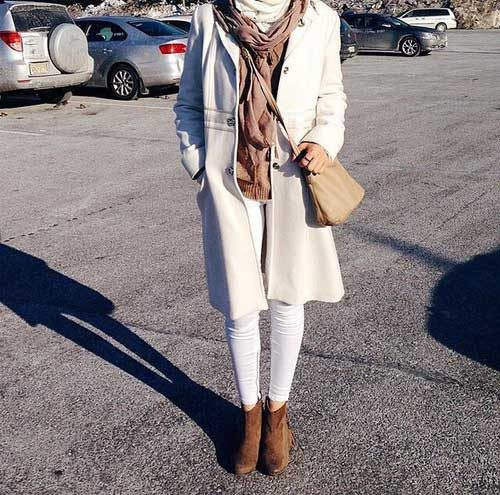 white-long-trench-coat-with-tan-boot