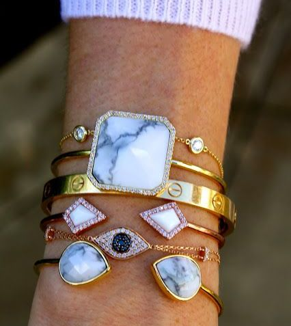 , Gemstone Bangle Bracelets