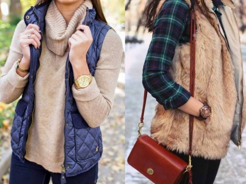casual fur vests