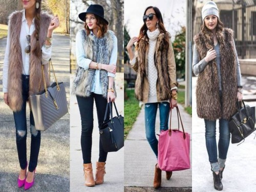 chic fur vests