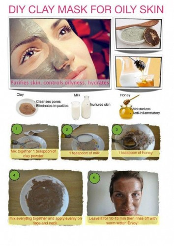 mask from clay for oily skin