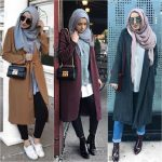 Cute cozy winter hijab style