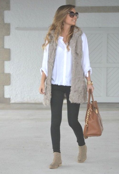 Fur Vest Street Style For Woman U2013 Just Trendy Girls
