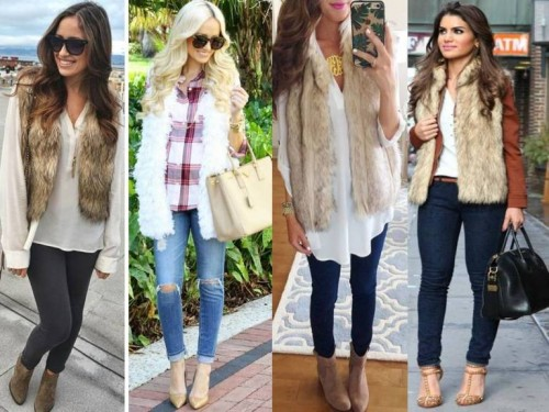how to style your fur vest
