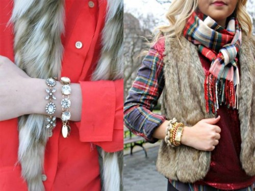 how to wear fur vests