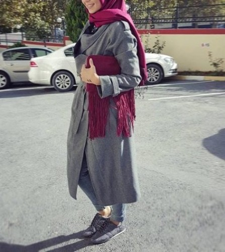 neutral sporty hijab