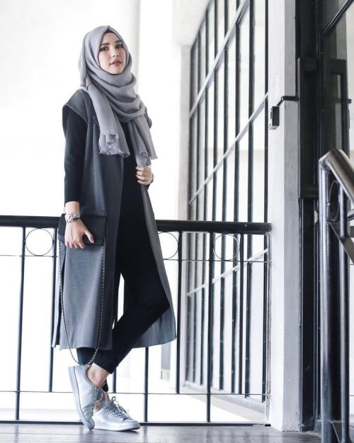 simple sporty hijab style