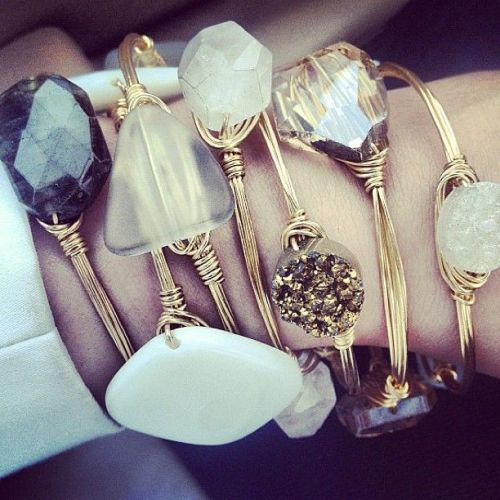 Gemstone Bangle Bracelets