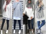 Hoodies and oversized sweaters with hijab