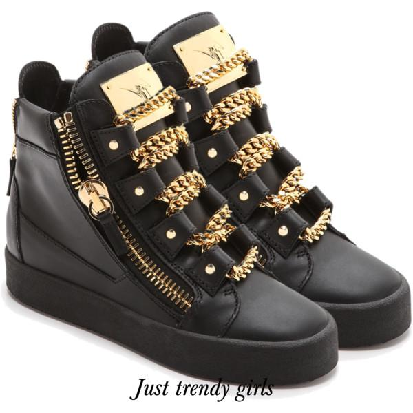Giuseppe Zanotti Design Concealed Wedge Hi Top Sneakers