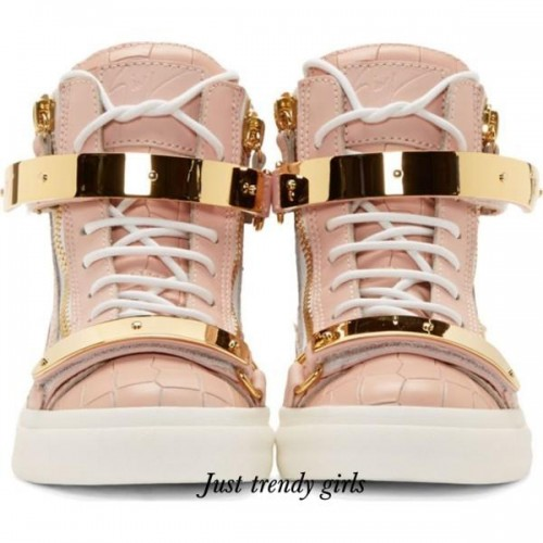 Giuseppe Zanotti Embossed Double-Strap Wedge sneakers,