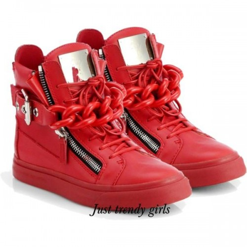 Giuseppe Zanotti Women's Double Strap Zip Fashion Sneaker,