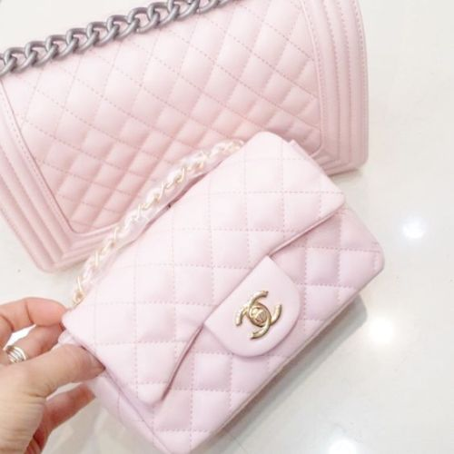 baby pink chanel bag