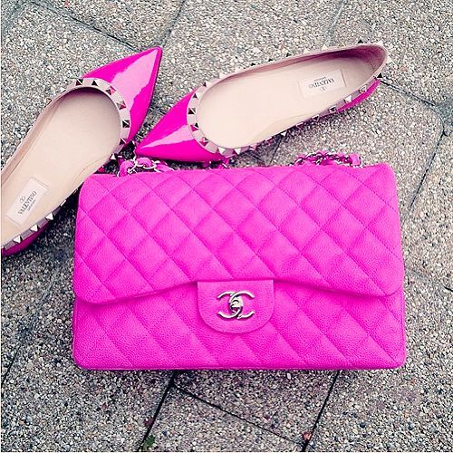 chanel bright bags and shoes