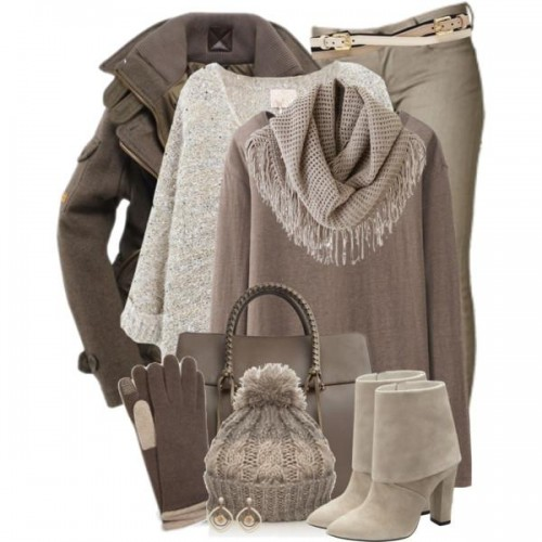 Cable Wool Poncho