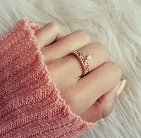 cute crown ring