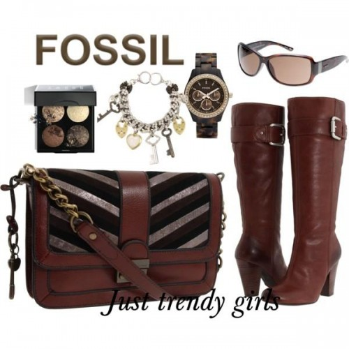 fossil shoulder bag and watch