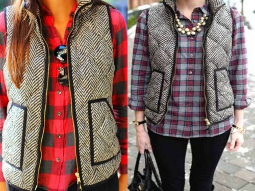gray puffer vests