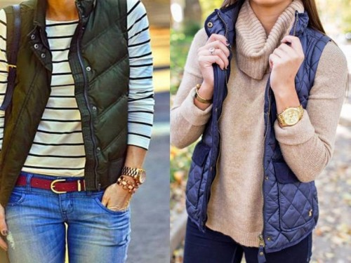 how to style puffy vest