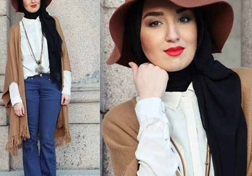 How to wear chic hijab in cold winter days