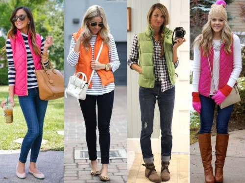how to wear puffer vest