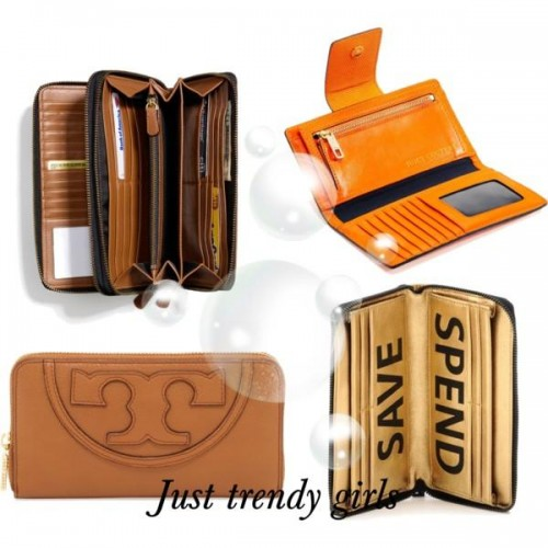British tan Leather billfold wallet for women