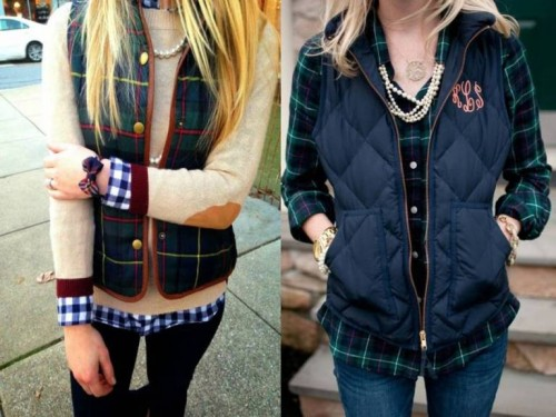 navy puffer vests
