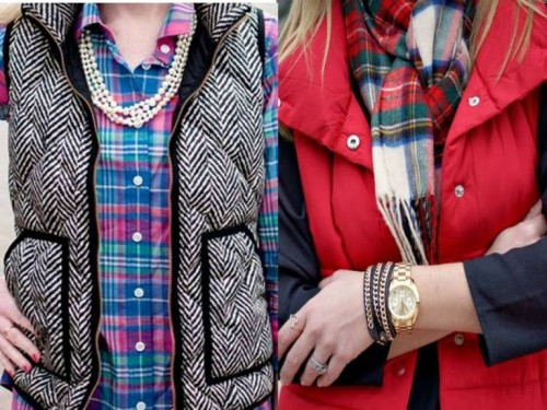 stylish puffer vests outfits