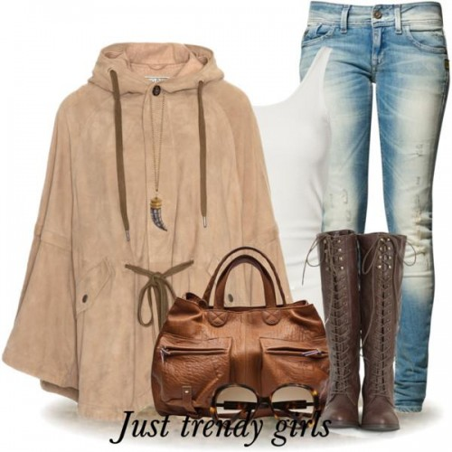 Camel Sleeves Cape Coat