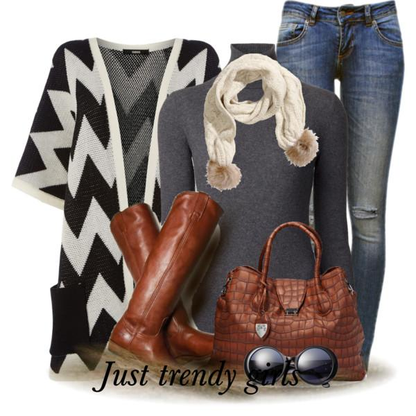 Winter outfits in cognac boots