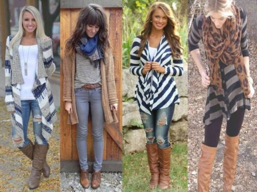 how to style long cardigans