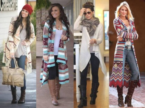 how to wear long cardigans g