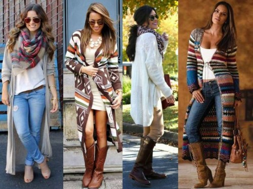 long cardigan street styles