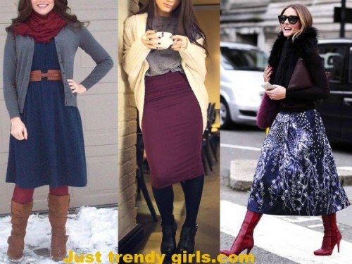 Tips For Wearing Skirts in the Winter