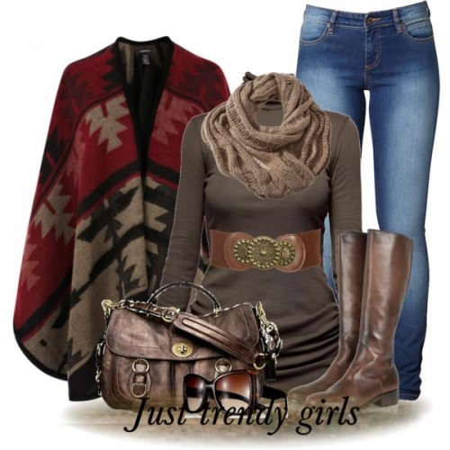 Burgundy boots outfits