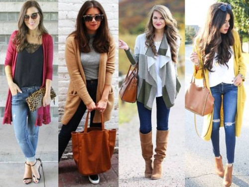 street styling long cardigans