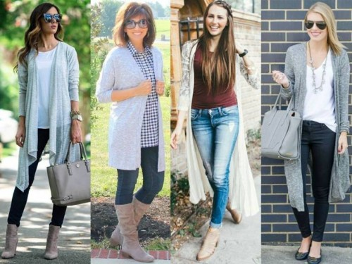 styling long cardigans
