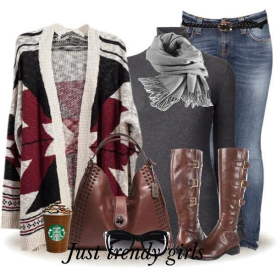 Casual outfits in maroon color