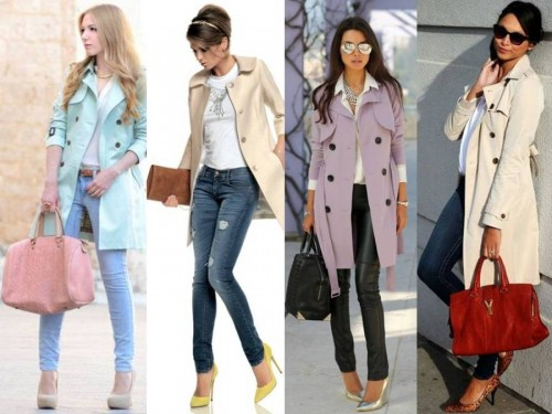 pastel colors trench coat