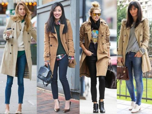 camel trench coats