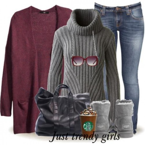 maroon cardigans outfits